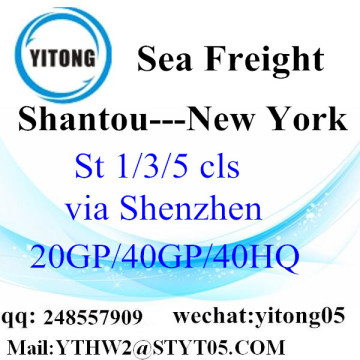 Shantou Trucking Service nach New York