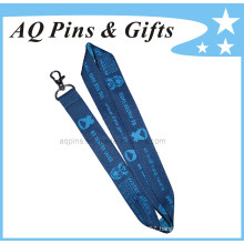 Polyester Lanyard with Metal Hook, ID Card Holder