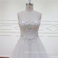 2016 Милая рукавов A линия Crystal Бисероплетение свадебное платье
