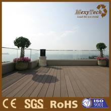 WPC зеленого дерева террасная, составные деревянные планки для крыши балкона.