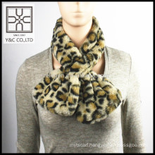 2015 Hign-end Fashion Leopard Print Fake Fur Snood