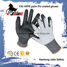 13G PU Coated Hppe Cut Labor Glove Level Grade 3