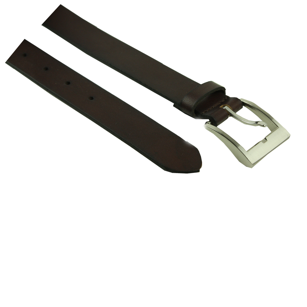 Brown Running Men Leather Belt with automatic buckle