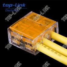 Conector de cabo de 3 vias de uma forma para LED Strip, Iluminação LED