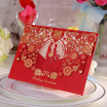 Fancy Handmade Greeting Cards Laser Invitaciones de Boda
