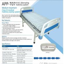 Matelas à air alternatif d'hôpital de classe supérieure de l'ICU avec pompe T07