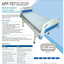 Alta classe hospital de UTI alternando ar colchão com bomba T07