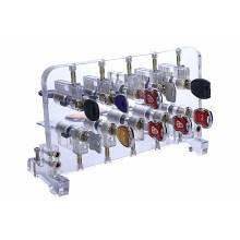 Suporte de exposição transparente dos fechamentos do cilindro do Mortise da prática para o treinamento do serralheiro