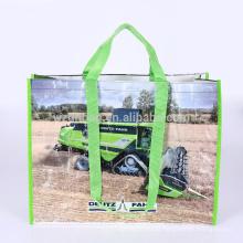 Eco reciclado reciclou o mantimento tecido PP da sacola da compra do polipropileno para a promoção, o supermercado e a propaganda
