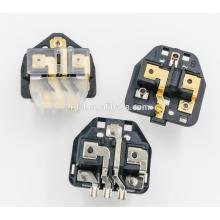 uk -009 16A uk Stecker Einsätze schwarz mit ROHS können wir Proben kostenlos liefern