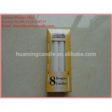 Белая свеча в коробке с термоусадочной пленкой-35г-40г