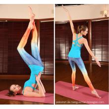 China Guter Preis 180GSM 85% Polyester 15% Spandex Sublimation Womans Custom Workout Wear Yoga Hosen mit ISO-Zertifizierung