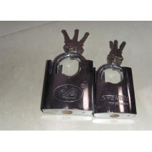 Chrome Plated Shackle Protected Iron Padlock