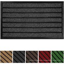 Original Durable Striped Door Mat, Indoor Outdoor, Easy Clean, Heavy Duty Doormat, 29X17, Striped Chocolate