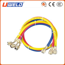 Manifold Gauge Charging Hoses in Red Yellow Blue