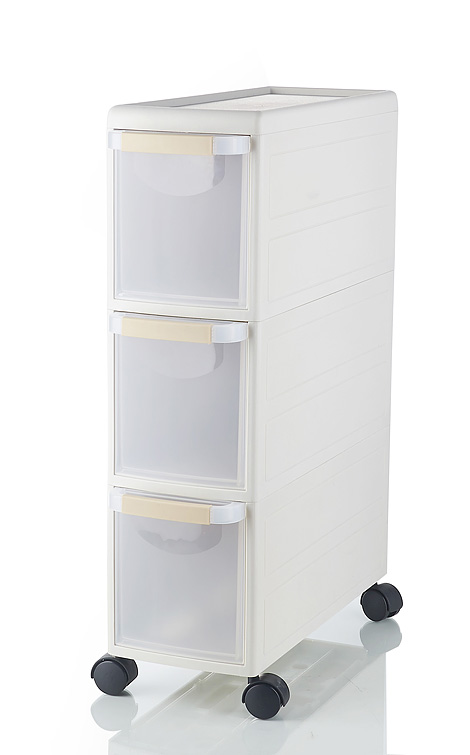 Plastic drawer storage cabinet