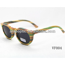 Óculos de sol de bambu de design personalizado com padrão CE
