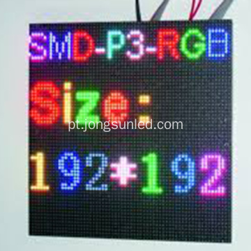 Bom módulo de display LED full color P3 interno