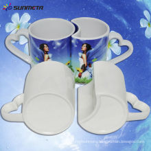 Hot Selling Directly Factory Wholesale Popular Sublimation Coated Couple Lover White Mug For Sale Price