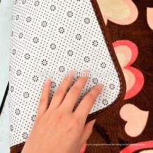 100% Polyester-Mikrofaser-Vinyl-Bodenbelag PVC-Backed-Matte waschbar 100% Polyester Mikrofaser Duschmatte