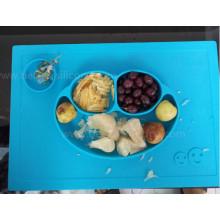 FDA LFGB Food Padrão Silicone Baby Fruit Dish
