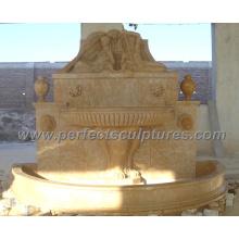 Fuente de la pared del jardín para la fuente de agua de mármol de piedra al aire libre (SY-W064)