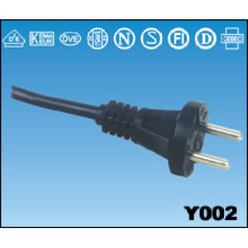 Y002 TYPE European VDE Power Plug