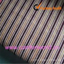 Jacquard Chenille Striped Sofa Fabirc Plain Dyed