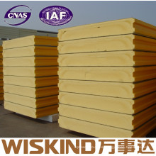 Panel de sándwich de poliuretano de estructura de acero