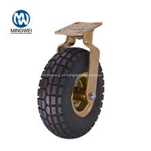 Roda pneumática de borracha do rodízio do giro de 8 polegadas