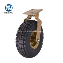 8 Inch Swivel Rubber Pneumatic Caster Wheel