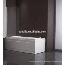 K-538 OEM 6mm 8mm 10mm frameless Bathtub shower screen pvc shower enclosure