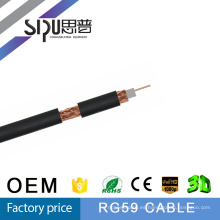 SIPUO mejor calidad rg59 cable coaxial TV cable RG59 a granel + Power Cable siamés, 500 ft, Commscope Rg59 Cable