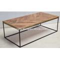 Industrial Urban Loft Modern Coffee Table Mango Wood Top
