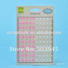 die Hälfte Perle Perlen selbstklebende Sticker für Sammelalbum