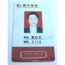 Cartão do empregado do PVC