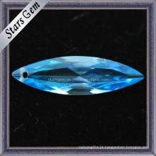 Suíço Blue Marquise Forma Gemstone Cubic Zirconia