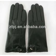 Guantes de los amantes tipo guantes de tacos cuero con color negro