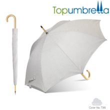 Nouvelle arrivée couleur changeante melange igname texture parapluies en bois Nouvelle arrivée couleur changeante melange igname texture parapluies en bois