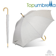 New arrival color changing melange yam texture wooden umbrellas New arrival color changing melange yam texture wooden umbrellas
