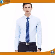 Camisa de vestir de moda blanca para hombres Camisas lisas formales de negocios