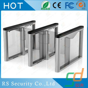 Swallow Card Cafeteria Column Glass Turnstile Door