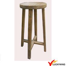 Banco de madeira redonda de madeira cadeiras altas cadeira
