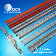 Galvanized Steel Slotted C Channel with Threaded Rod On Sale