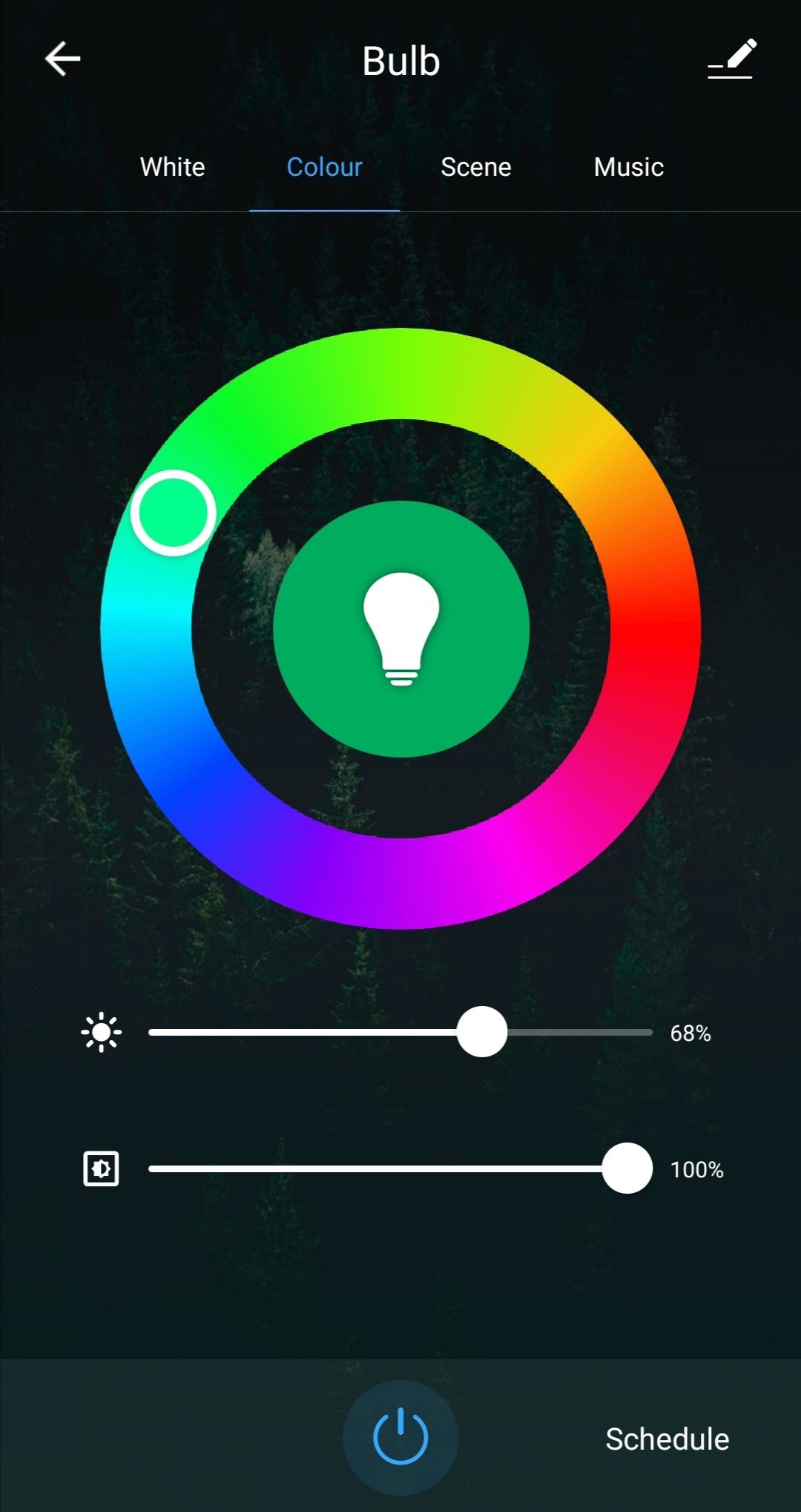 Tuya smart color light