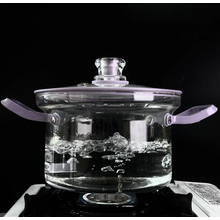 Rugged borosilicate glass pot