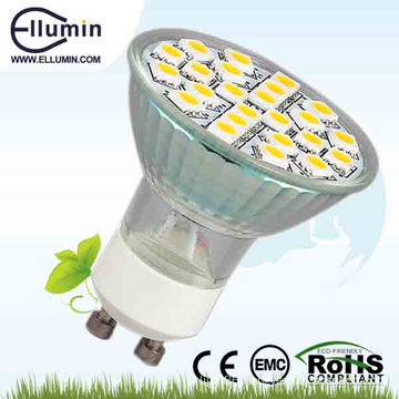 5050 smd led spot light GU10 glass led light