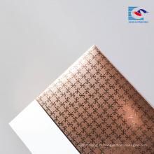 Sencai Pliage haut de gamme feuille d'or estampage emballage cosmétique boîte-cadeau