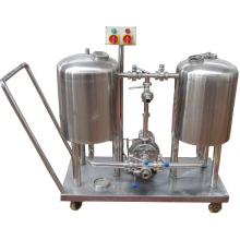 CIP cleaning system for beer brewery washing