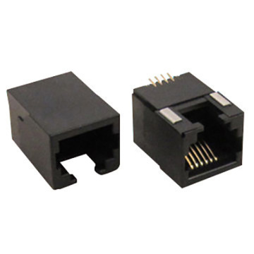 RJ11 Side Entry PCB Jack Half Shield